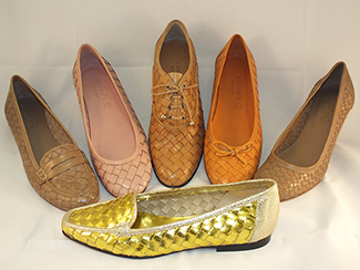 Special woven shoes